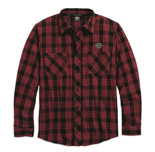 Plaid Brushed Cotton Flannel Shirt