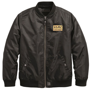 HDMC Patch Slim Fit Bomber Jacket