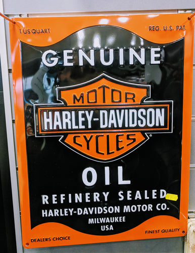 Harley Davidson Oil Tin Sign
