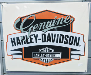 Harley Davidson tin sign