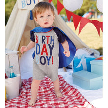 BIRTHDAY BOY CAPE SHORTALL & CAPE SET