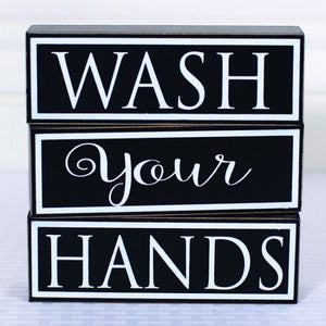 Wood Block Wash Your Hands Set