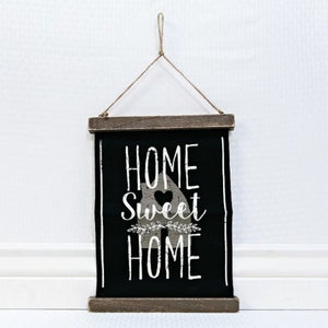 Canvas Hanging Home Sweet Home Sign