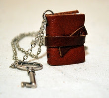 Leather Booklet Necklaces