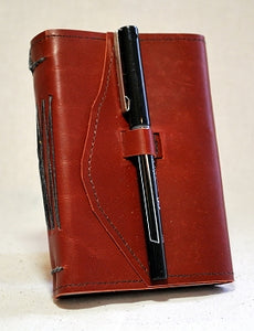 Small Leather Travel Journal with Recycled Paper