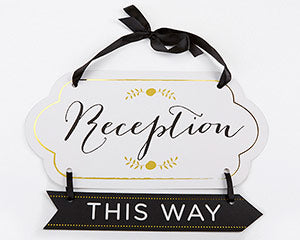 CLASSIC GOLD FOIL DIRECTIONAL RECEPTION SIGN