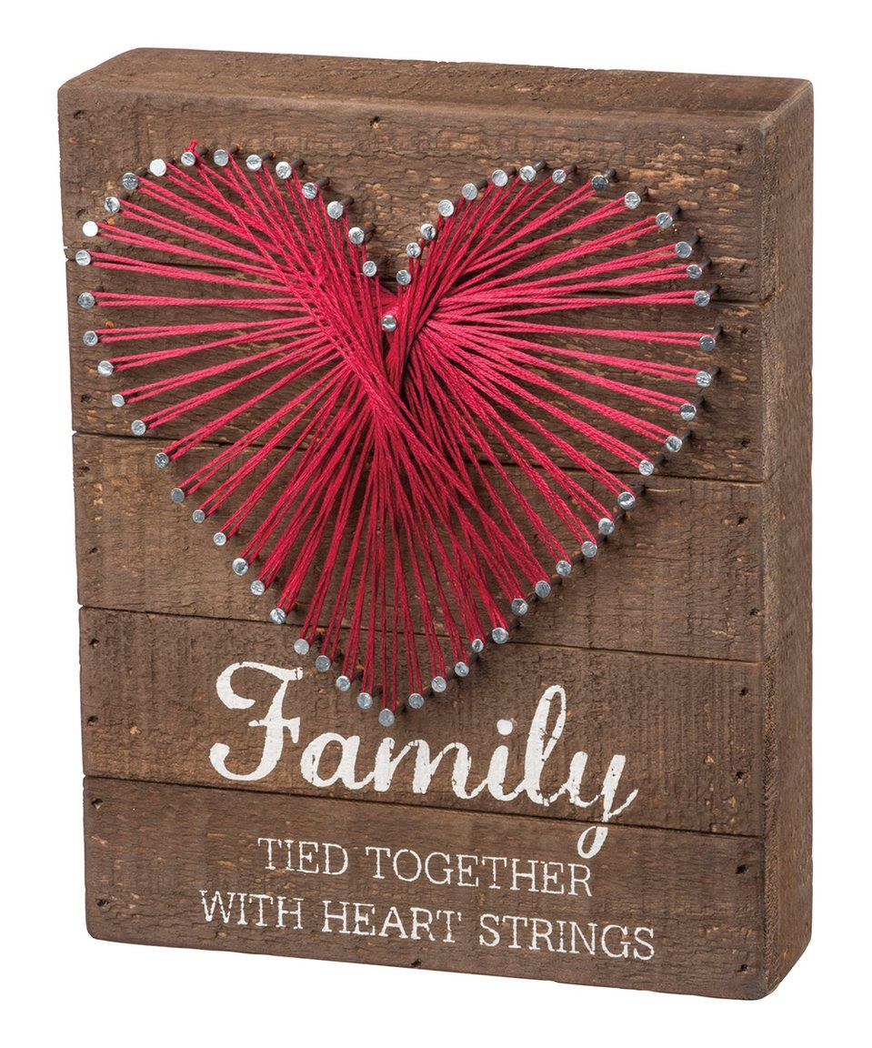 Family Tied Together With Heart - String Art