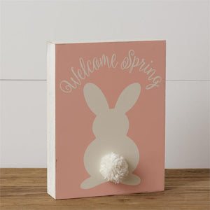 Welcome Spring Box Sign