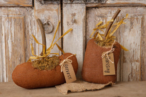 Orange Burlap Pumpkins