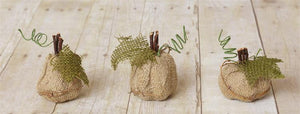 Mini Burlap Gourds