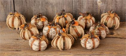 Mini Fabric Pumpkins