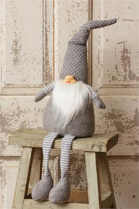 Large Sitting Gnome - Gray