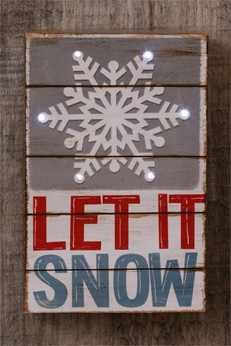 Let It Snow LED Sign