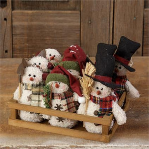 Mini-Fluffy Snowmen