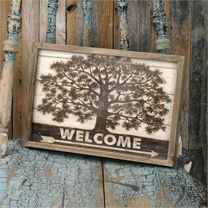 Welcome Tree Wall Plaque