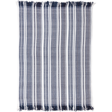 HURON CHAMBRAY STRIPE CHENILLE THROW