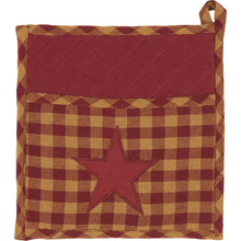 BURGUNDY STAR POT HOLDER