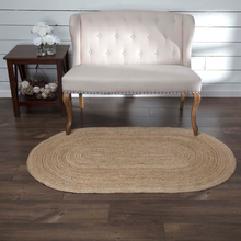 NATURAL JUTE RUG OVAL 3' x 5'