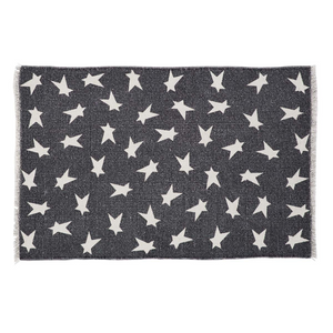 BLACK PRIMITIVE STAR RUG RECT1'8 x 2'6