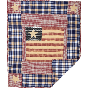 INDEPENDENCE QUILTED THROW