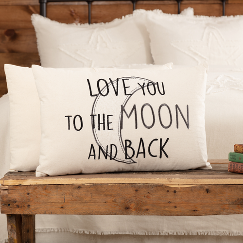 Casement Natural Love You to the Moon and Back Pillow