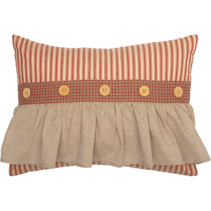 Rory Schoolhouse Red Ruffled Pillow