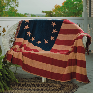 OLD GLORY THROW WOVEN