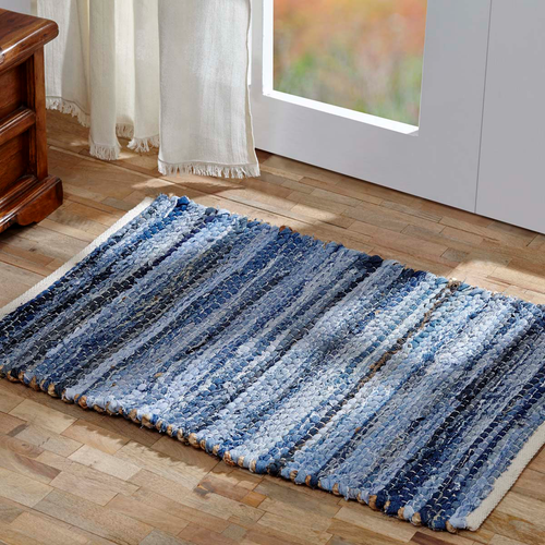 DENIM & HEMP CHINDI/RAG RUG RECT 1'8 x 2'6