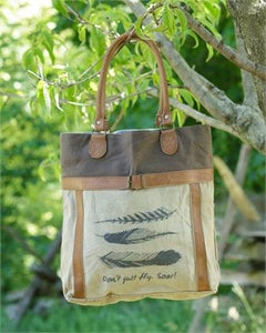 FEATHER CANVAS BAG