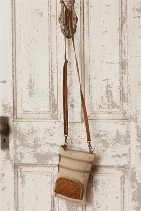 Crossbody Bag - Leather Accents