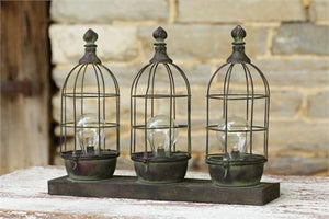 Triple Birdcage Wire Lamp