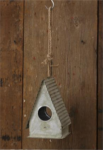 Birdhouse - Tin Roof & Jute Hanger