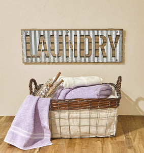 "Metal ""Laundry"" Sign"