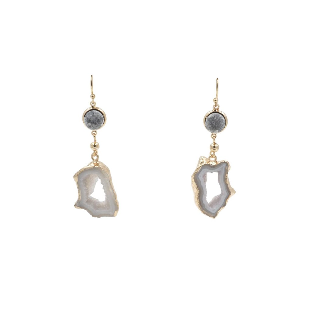 AGATE COLLECTION - STORMY DROP EARRINGS