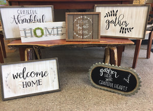 Gather Handmade Sign