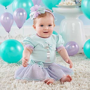 Almost Perfect - Final Clearance My First Birthday 3-Piece Party Outfit with Tutu (12-18 mos)