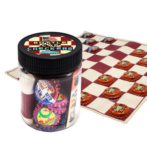 Bottle Cap Checkers Classic Jar Game