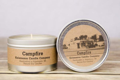 CAMPFIRE: 6.5OZ TIN CANDLE