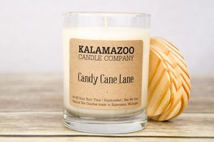 CANDY CANE LANE: 10OZ JAR CANDLE