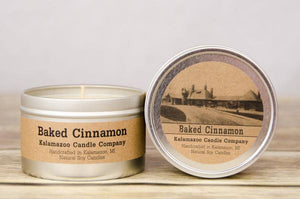 BAKED CINNAMON: 6.5OZ TIN CANDLE