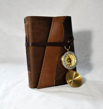 Medium Leather Compass Journal with Recycled Paper