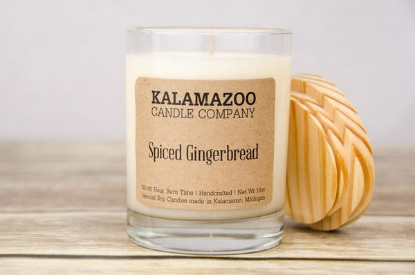 SPICED GINGERBREAD: 10OZ JAR CANDLE-NEW