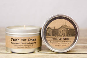 FRESH CUT GRASS: 6.5OZ TIN CANDLE