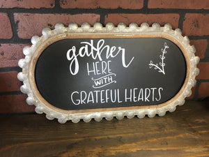 Gather Here Metal Frame (Hand Printed)
