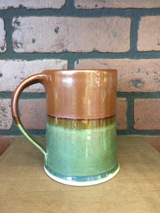 Green & Copper Layered Pottery Mug