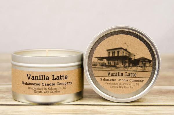 VANILLA LATTE: 6.5OZ TIN CANDLE