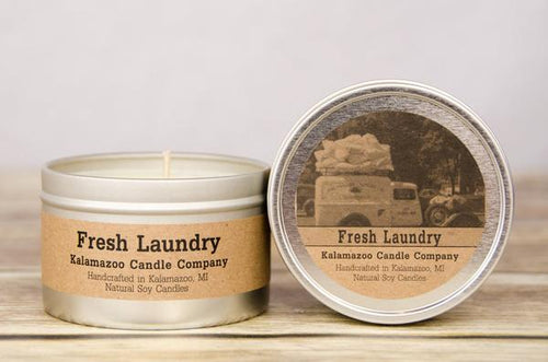 FRESH LAUNDRY: 6.5OZ TIN CANDLE