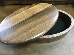Handcrafted Wooden Oval Box
