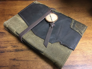 Medium Leather Tie Journal with Recycled Paper