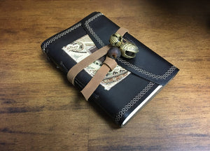 Small Bell Leather Journal with Recycled Paper